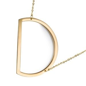 Jewelry - Name Necklace Lette Capital Pendant D